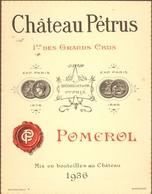 1 Etiquette Chateau Petrus 1936 - Etiquettes