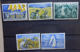 NEDERLAND  1949    Nr. 513 - 517    Postfris **  CW  16,50 - Period 1949-1980 (Juliana)
