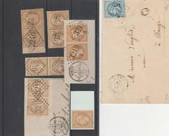 Napoléon III Paire + Lettre Napoléon III Lauré  GC 3764 St MATHURIN  Et Lettre Timbre Quitance - 1862 Napoleon III