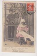 27938 Cpa Série Etoile 2032  Retour De L' ENFANT De  Troupe -enfant Gaçon Fillette -1910 - 1/ Grille Jolis Doigts Coud - Humor