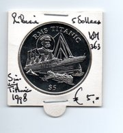 LIBERIA 5 DOLLARS 1998 SINKING TITANIC - Liberia