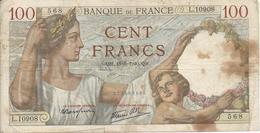 100fr 1940 - 1871-1952 Antiguos Francos Circulantes En El XX Siglo