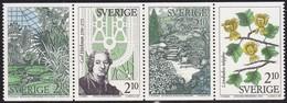 Schweden, 1987, Mi. Nr. 1453/56, MNH **.  Botanische Gärten. - Suède