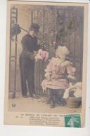 27940 Cpa Série Etoile 3042  Retour De L' ENFANT De  Troupe -enfant Gaçon Fillette -1910 - 2/offre Fleurs Coquettes - Humor