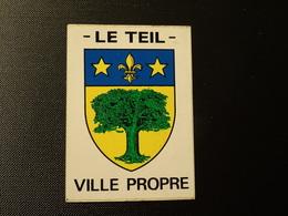 Petit Blason écusson Adhésif Autocollant Le Teil (Ardèche) Aufkleber Wappen Coat Arms Sticker Adhesivo Adesivo - Obj. 'Remember Of'