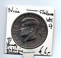 NIUE 5 DOLLARS 1988 J.,F. KENNEDY - ICH BIN EIN BERLINER - Niue