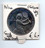 NIUE 5 DOLLARS 1987 SEOEL 1988 STEFFI GRAF - Niue