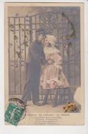 27942 Cpa Série Etoile 2032  Retour De L' ENFANT De  Troupe -enfant Gaçon Fillette -1910 - ? Embrasse Moi Seurette - Humor
