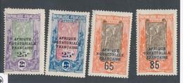CONGO FRANCAIS - N° 89/92 NEUFS* AVEC CHARNIERE - 1924/25 - Congo Français (1891-1960)