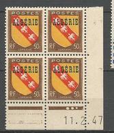 ALGERIE Coin Daté N° 244 NEUF** LUXE SANS CHARNIERE / MNH - Algeria (1924-1962)