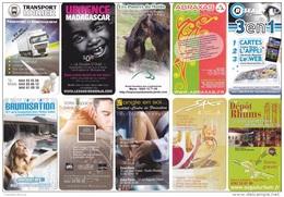 LOT  10 CARTES PUBLICITE (FORMA CARTE VISITE) DE LA REUNION - Cartes De Visite