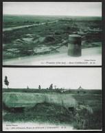 2 CPA GUERRE 14-18 : ABRI ALLEMAND ET TRANCHEE SOUAIN SOMMEPY ET MONT CORNALET VOIR 2 PHOTOS R/V - Weltkrieg 1914-18