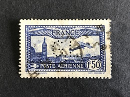 FRANCE G PA 6 Poste Aérienne G.L 81 Indice 1 Perforé Perforés Perfins Perfin !! - Perforadas