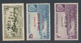 MARTINIQUE - 3 TIMBRES NEUFS** SANS CHARNIERE - Martinique (1886-1947)