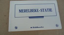 Merelbeke - Statie - Boekje 10 Zichtkaarten - Merelbeke
