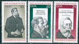 DDR - Mi 1622 / 1624 - ** Postfrisch (A) - Friedrich Engels - [6] Democratic Republic