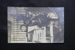 MILITARIA - Carte Postale Photo - Officier Sautant à Cheval , écrite En 1922 - L 59647 - Personnages