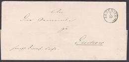 Km_ Vorphilatelie - Brief Von Jasenitz / Jasienica (Pommern) Nach Duchow - Deutschland