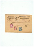 TAXE SIMPLE PREFECTURE DE L'AISNE Pour  BRASSERIE COOPERATIVE D'HIRSON (AISNE) 1927 - 1859-1955 Briefe & Dokumente