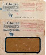 Graines D'élite Clause 1949 & 1953 - 2 EMA Différentes - Brétigny-sur-Orge - EMA (Printer Machine)
