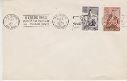 Argentina 1971 6 Enero 1962 Primer Vuelo Al Polo Sur Cover (47404) - Poolvluchten