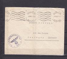 FRANCE  LETTRE 1942 NEVERS NIEVRE KOMMANDANTUR 568 - Postmark Collection (Covers)
