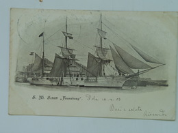 K.U.K. Kuk 1319 Kriegsmarine Marine  Pola S.M.S. SMS  Schiff  1903 Frunsberg - Guerre