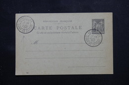 FRANCE - Oblitération Du Camp De Satory De Versailles Sur Entier Postal Type Sage En 1900 - L 59660 - Marcophilie (Lettres)