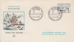 Enveloppe  FDC  1er  Jour  GROENLAND   Transports  Postaux   1975 - FDC