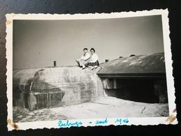Photo  Fortification Allemande  Bunker Blockhaus Zeebruges Zeebrugge 1946 - War, Military