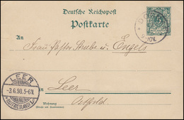 Postkarte Ziffer 5 Pf. Grün DORNAP 3.6.98 Nach LEER / OSTFRIESLAND 3.6.98 - Interi Postali