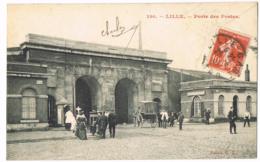 Lille - Porte Des Postes - 130 - Animée - Circulé 1909 - GL - Mlle Georgette DAVID - Lille