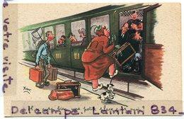 - Humour - Il Y Aura Bien Une Petite Place Pour Moi ..,compartiment De Train, De Xav, Sympha.. Non écrite, TBE, Scans.. - Zumbusch, Ludwig V.