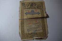 Royaume D'Autriche Dette Publique 5 % 1000 Florins Staatsschuldverschreibung 1000 Gulden 1868 - Banque & Assurance