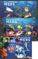 W337 DE GUINEE FISH & MARINE LIFE DES MERS 2KB+2BL MNH - Marine Life