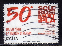 ITALIA REPUBBLICA ITALY REPUBLIC 2018 IL SENSO CIVICO ASSOCIAZIONE ITALIANA SCLEROSI MULTIPLA B USATO USED OBLITERE' - 6. 1946-.. Repubblica