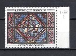 FRANCE  N° 1427b VARIETE SANS LE VERT    NEUF SANS CHARNIERE  COTE 230.00€    VITRAIL - Nuovi