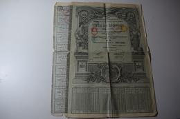 Dette Publique De La Roumanie 4,5 % Or 100 Lei 810 Mark 39,12 £ 1913 - Banque & Assurance