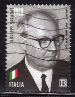 ITALIA REPUBBLICA ITALY REPUBLIC 2018 GIUSEPPE SARAGAT B USATO USED OBLITERE' - 6. 1946-.. Repubblica