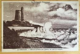 1934 - SAINT VAAST LA HOUGUE -  Côté De La Porte Aux Dames , Un Jour De Tempête -  Carte Postale écrite , Circulée - Saint Vaast La Hougue