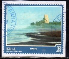 ITALIA REPUBBLICA ITALY REPUBLIC 2018 PROPAGANDA TURISTICA TOURISM PINETO B USATO USED OBLITERE' - 6. 1946-.. Repubblica