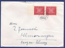 Mehrfachfrankatur MiNr. 407, Bogenrand (aa0552) - Storia Postale