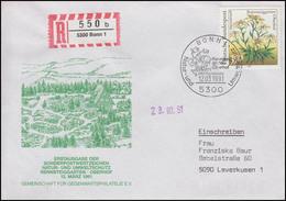 1509 Rennsteiggarten Alpenedelweiß EF R-FDC ESSt Bonn Umweltschutz 12.3.1991 - Altri