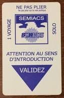 06 NICE TICKET 1 VOYAGE TITRE DE TRANSPORT MAGNÉTIQUE QUE POUR LA COLLECTION - Bus