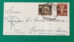 1945  DA OSIMO PER CUPRAMONTANA - Marcophilie