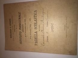 1926-VIGEVANO-EDUCANDATO S.GIUSEPPE -PAGELLA-ISTITUTO MAGISTRALE - Diploma & School Reports