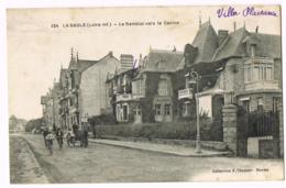 La Baule - Le Remblai Vers Le Casino - Animée - Vélos -  Charrette - 124 - Ecrite 1918 - F Chapeau - La Baule-Escoublac