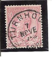 Belgique N°46 Turnhout U107 - 1893-1900 Fine Barbe