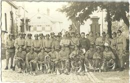 Carte Photo Militaire Fanfare 160 Eme Et 79 Eme Regiment Et 7 Eme Bataillon De Mitailleurs Sarrebourg - Militaria