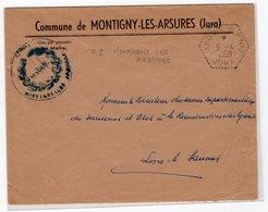 JURA : Circuits Postaux Automobiles : ARBOIS CP 2  Type3 Montigny Les Arsures 1958 - 1921-1960: Moderne